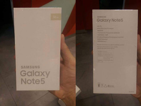 Samsung Galaxy Note 5 Live Image Leaked Ahead of Unpacked Event