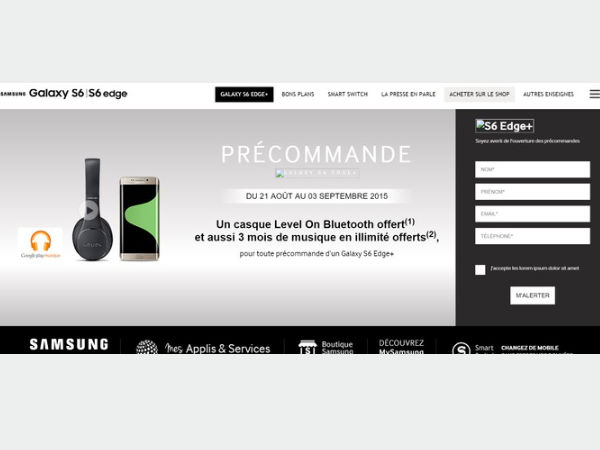 Samsung Galaxy S6 Edge+ Gets Listed Online, Preorder on Aug 21?