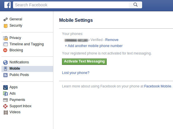 Sharing phone number on Facebook can give access to your personal data