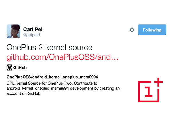 OnePlus 2 Kernel Source Available for Download Now