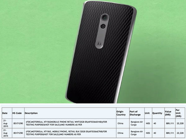 Motorola X Play launch in India imminent