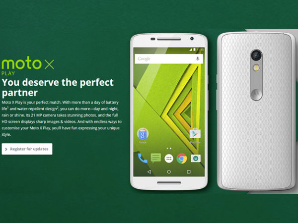 Motorola X Play launch in India imminent