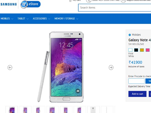Samsungindiaestore: Samsung Galaxy Note 4 Price