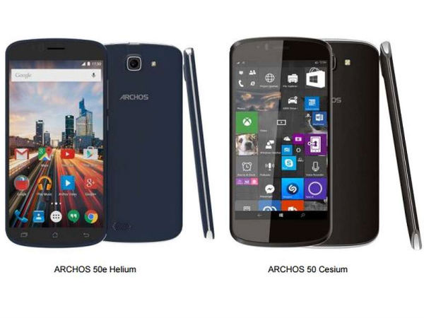 Archos Announced 50 Helium Smartphone Running Windows 10 Mobile