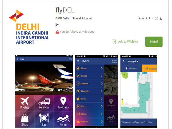 Delhi Airport launches new mobile app