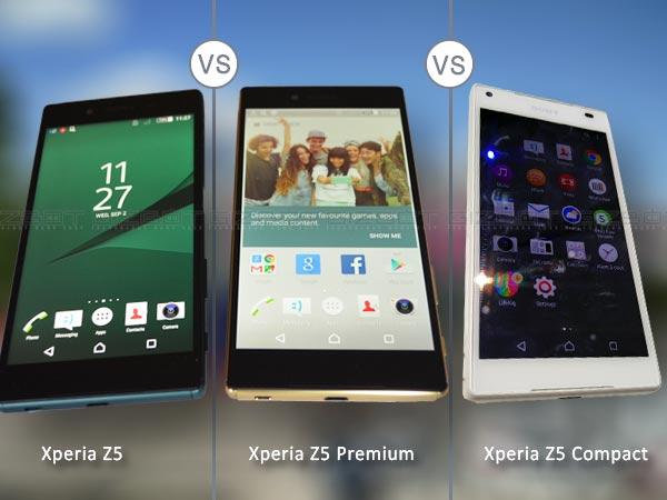 Sony Xperia Z5 vs Z5 Premium vs Z5 Compact: Quick Specs Comparison