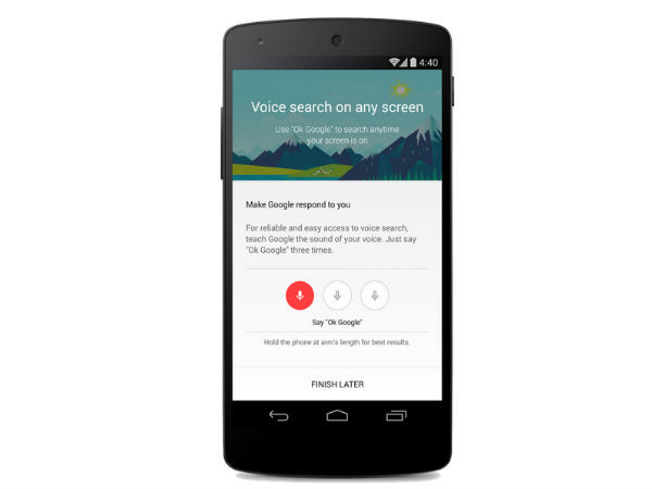 Activate Voice Search From Lock Screen