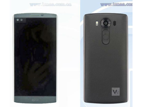 LG V10 smartphone with secondary display spotted in photos