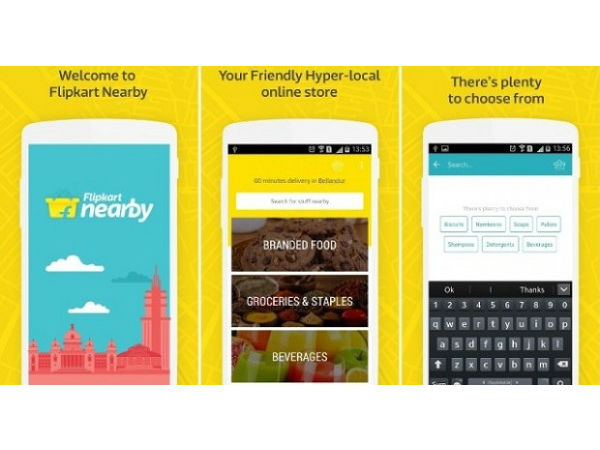 Flipkart Nearby service that connect consumers with retailers