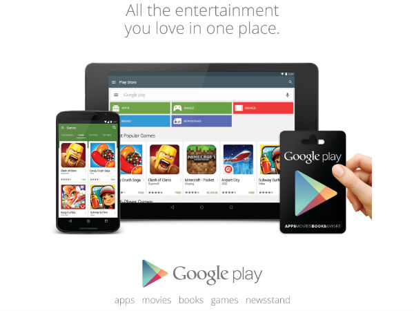 Google Play Cards now available on Snapdeal and retail stores in India