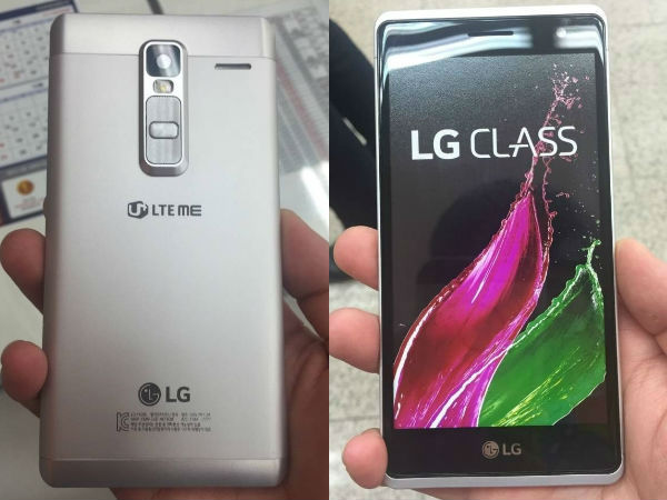 LG Class Smartphone Live Image Surfaced Online, Hints Metal Body