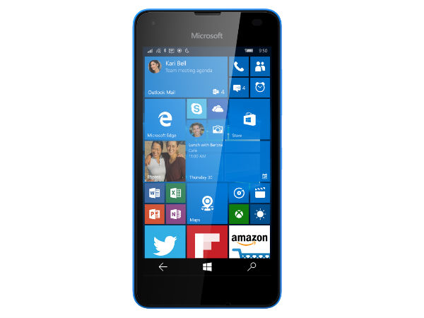 Microsoft Lumia 550 with four different colors leaked in press render