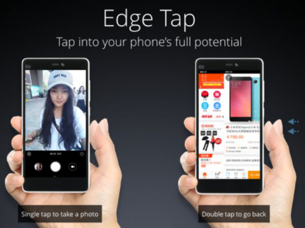 Edge Tap Technology – Did they take a cue from the Nubia?