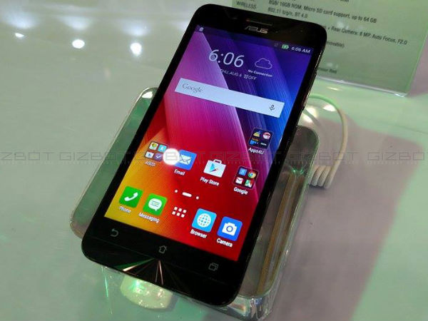 Asus Launches Zenfone Go Smartphone with Mid Range Specs at Rs 7,999