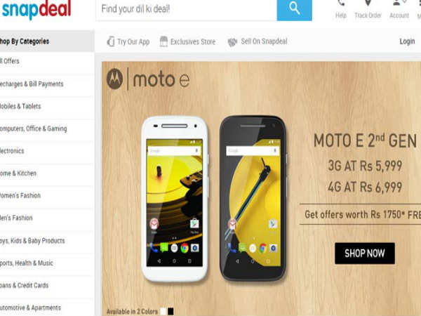Motorola Moto E (2015) Goes on Sale via Snapdeal and Amazon India