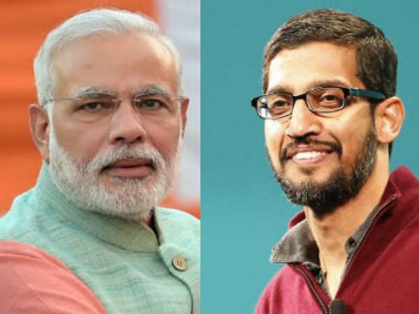 After Facebook, Modi visits 'Google Guru'