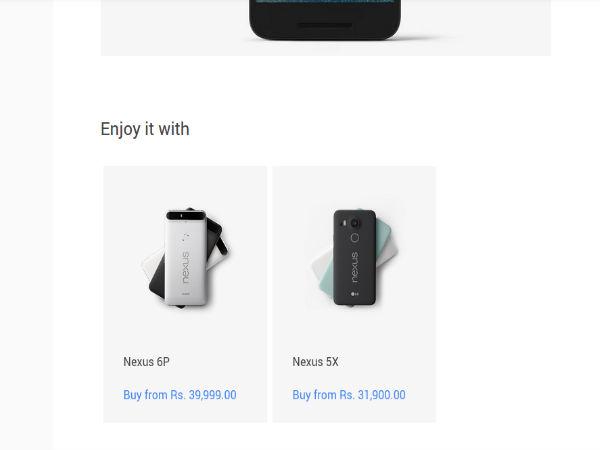 Google Nexus 5X and 6P India Price Revealed