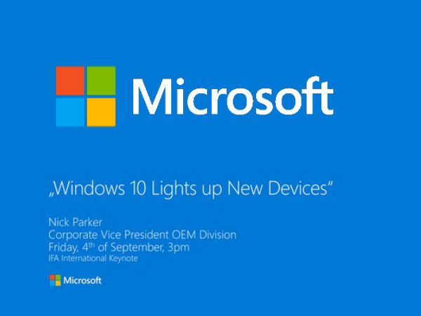 Microsoft At IFA 2015: Watch Live Streaming Here