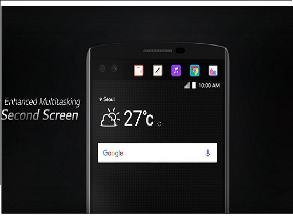 LG V10 smartphone with dual-camera and dual display announced