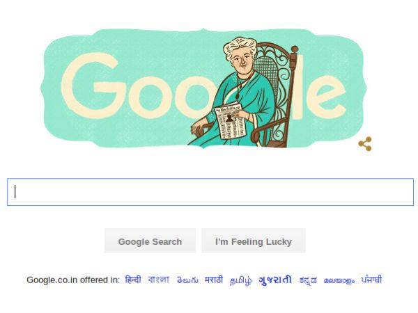 Google Doodle celebrates Annie Besant's birth anniversary