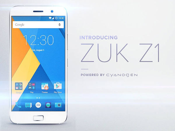 ZUK Z1 Smartphone will be now available for purchase internationally!