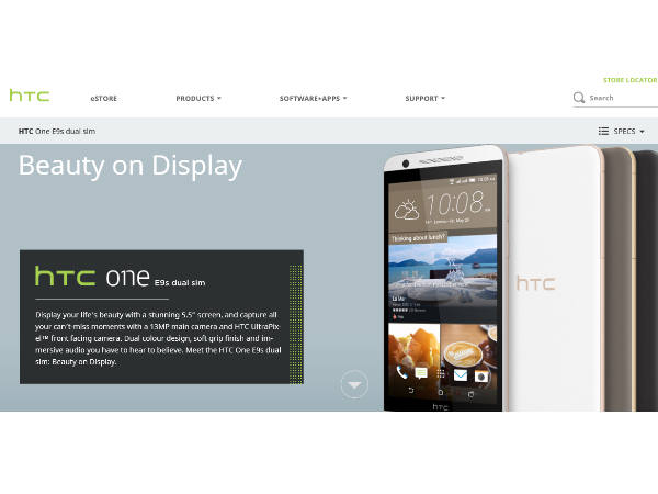 HTC One E9s smartphone now available in India on eBay at Rs 20,497