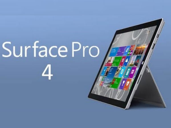 Microsoft Surface Pro 4 tablet with 14-inch display, Intel