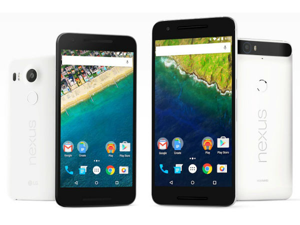 Google Huawei Nexus 6P and LG Nexus 5X
