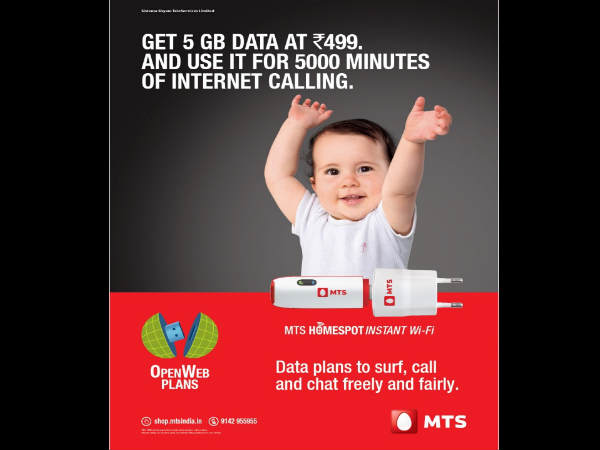 MTS Introduced Data Plans for Internet Calling in India