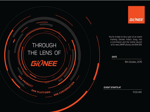 Gionee to launch Elife E8 exclusively on Snapdeal in India