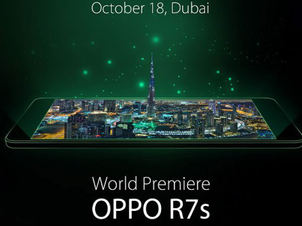Oppo R7s Set to be Unveiled on October 18