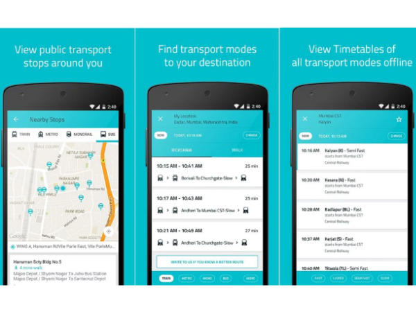 Carry bus/train/metro schedules in your pocket!