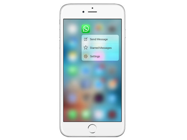 WhatsApp Brings 3D Touch Gesture To iPhone 6s And 6s Plus