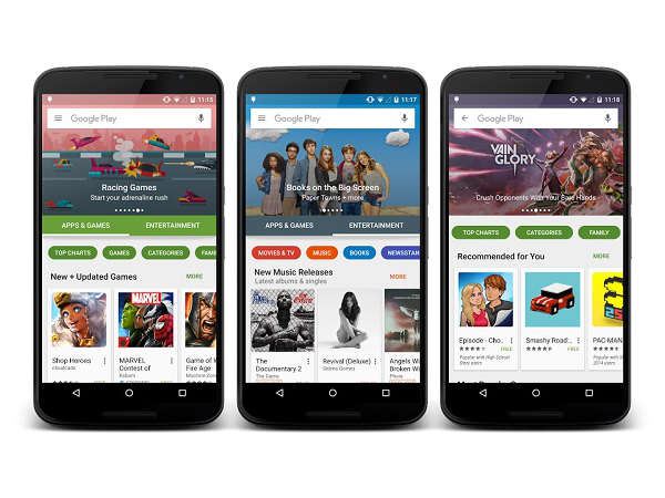 Google Updates PlayStore UI and Calender with New Illustrations
