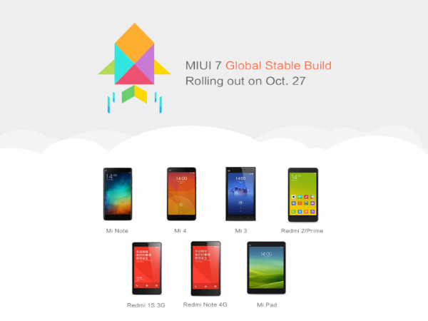 Xiaomi To Roll Out MIUI 7UI Global Stable ROM Over OTA Starting Oct 27