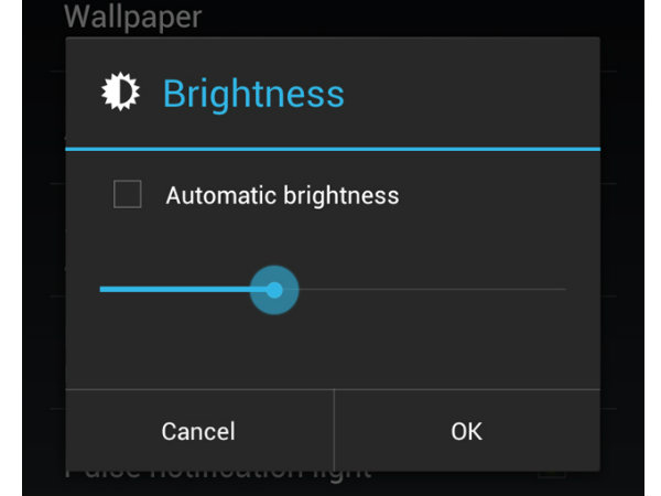 Reduce Display Brightness