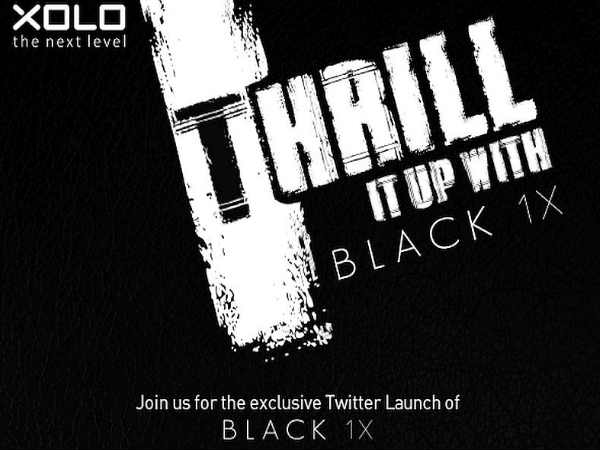 Xolo Black 1X smartphone confirmed to launch on October 28
