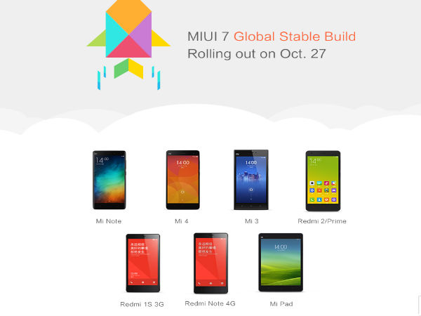 Xiaomi Rolls Out MIUI 7 Global Stable Version in India