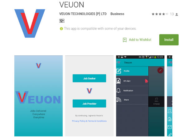 Mobile app Veuon connects job seekers, employers geographically