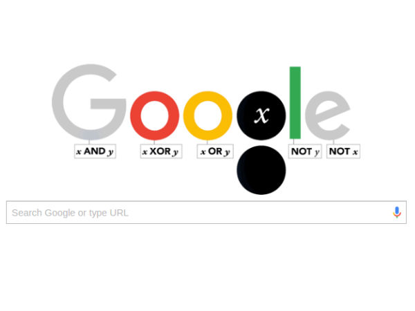 Google 'doodles' mathematician George Boole