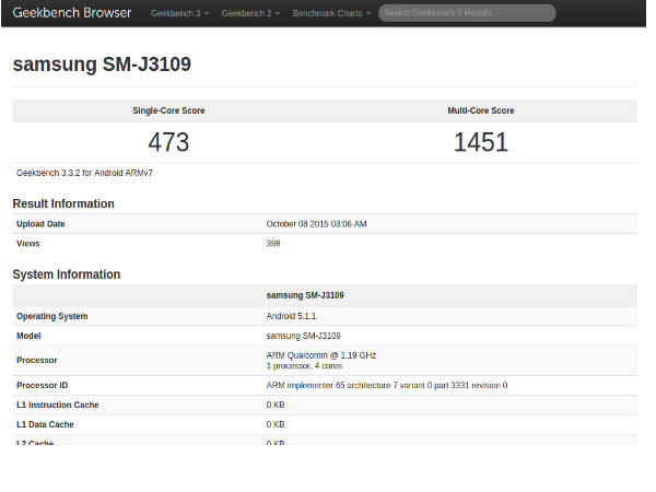 Samsung Galaxy J3 appears on Geekbench, clearing FCC hurdle