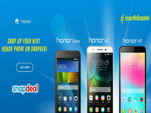 Huawei Honor smartphones now also available on Snapdeal