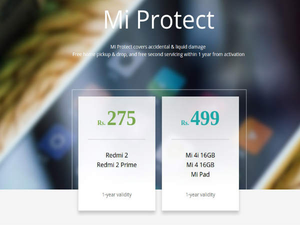 Xiaomi to launch 'Mi Protect' insurance cover for its devices in India