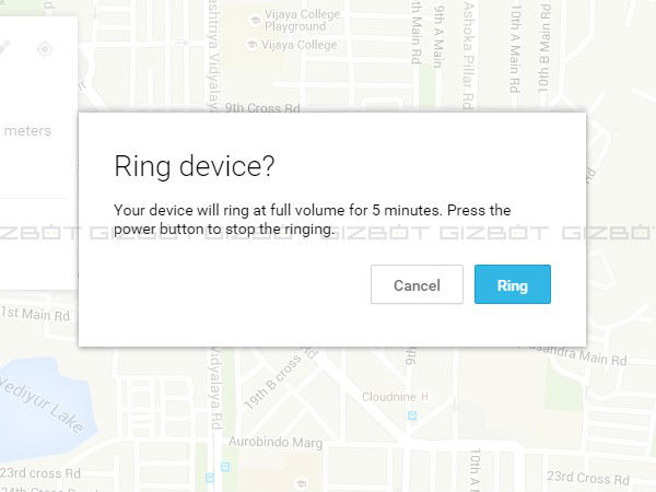 Remotely Ring your device