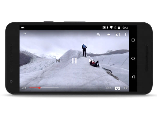 YouTube Android App updated with VR video playback support