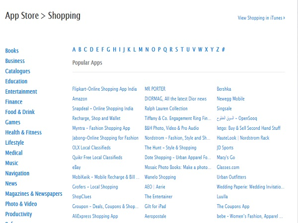 Apple launches 'Shopping' category on App Store