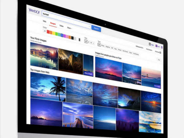 Yahoo's new improved Image Search includes Flickr images