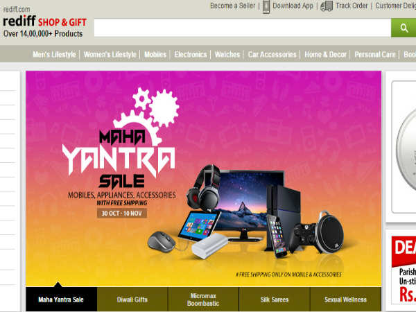 Rediff Limited period offer on  Purchase Electronics with Up to 72% reduction