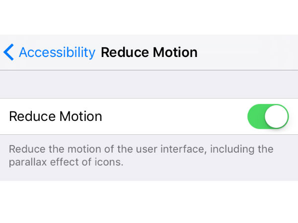 Disable UI motion
