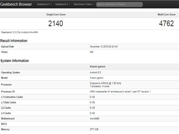 Unannounced Xiaomi smartphone codenamed